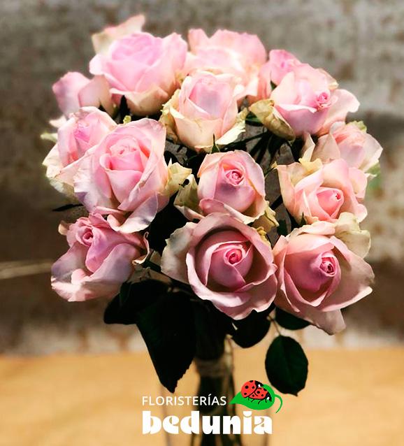Rosas tallo corto 15 unidades